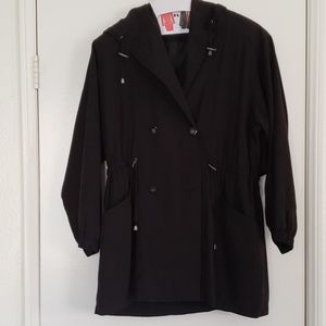 Gallery Light Weight Hooded Coat in blk sz S